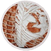 Strength - Tile Round Beach Towel