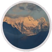 Stunning Countryside Of Northern Italy With The Alps  Round Beach Towel