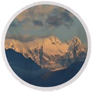 Stunning Landscape View Of The Italian Alps  Round Beach Towel