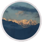 Stunning View Of The Pretty Dolomite Mountains In The Alps Of It Round Beach Towel
