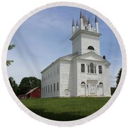 Sudbury Congregational Church  Round Beach Towel