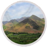 Summer, The Newlands Valley, Lake District National Park Round Beach Towel