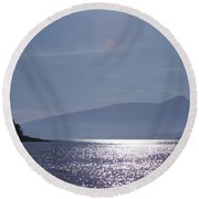 Sun On The Ocean  Round Beach Towel