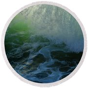Sunlight And Surf Round Beach Towel