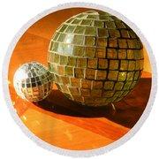 Sunlit Spheres Round Beach Towel