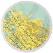 Sunny Blooms 3 Round Beach Towel
