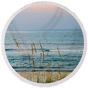 Sunrise And Sand Round Beach Towel