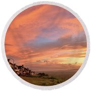 Sunrise At Tagaytay Highland Round Beach Towel
