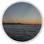 Sunrise At Townsends Inlet Round Beach Towel