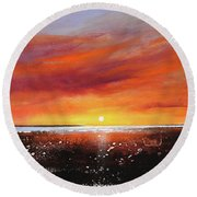 Sunrise Beach Round Beach Towel