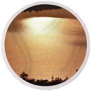 Sun's Reflection Round Beach Towel