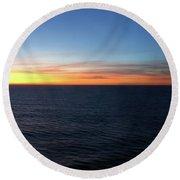 Sunset At Sea Round Beach Towel