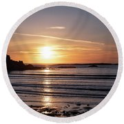 Sunset Bay Moments Round Beach Towel