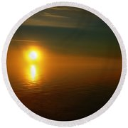 Sunset... Round Beach Towel