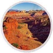 Sunset Point View Round Beach Towel by John Hight