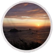 Sunset Watch Round Beach Towel