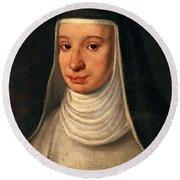 Suor Maria Celeste, Galileos Daughter Round Beach Towel
