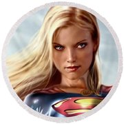 Supergirl Collection Round Beach Towel
