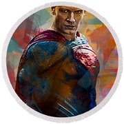 Superhero.superman. Round Beach Towel