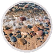 Surf And Stones Round Beach Towel