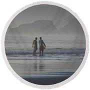 Surf Pals Round Beach Towel