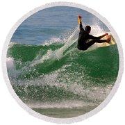 Surfer Round Beach Towel by Carlos Caetano