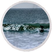 Surfing And Sailing Round Beach Towel