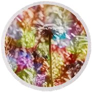 Sweet And Lovely Round Beach Towel