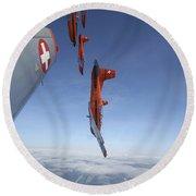 Swiss Air Force Display Team, Pc-7 Round Beach Towel