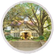 Swiss Avenue Historic Mansion Dallas Texas Round Beach Towel