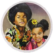 Tales Of Dunk And Mike Wip Round Beach Towel by Baroquen Krafts
