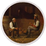 Talking It Over , Enoch Wood Perry  Round Beach Towel