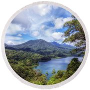 Tamblingan Lake - Bali Round Beach Towel