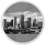 Tampa The Downtown Round Beach Towel
