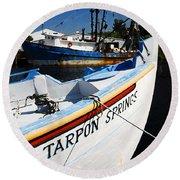 Tarpon Springs Round Beach Towel