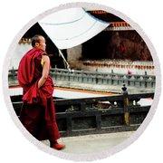 Tashilhunpo Monastery Shigatse Tibet Yantra.lv  Round Beach Towel