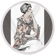 Tea Jacket Round Beach Towel