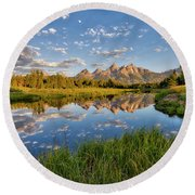 Teton Sunrise Round Beach Towel