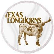 Texas Longhorns Round Beach Towel