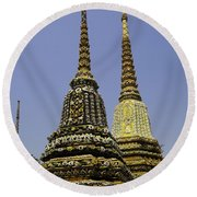 Thailand Architecture Round Beach Towel