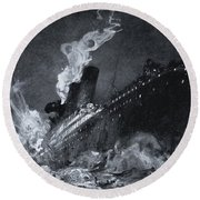 The 46,328 Tons Rms Titanic Of The Round Beach Towel