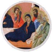 The Apostles Of Maria Fragment 1311  Round Beach Towel