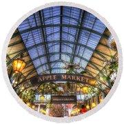 The Apple Market Covent Garden London Round Beach Towel