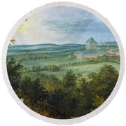 The Archdukes Hunting Round Beach Towel