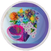 The Arrangement Round Beach Towel