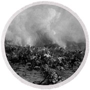 The Battle Of Gettysburg Round Beach Towel by War Is Hell Store