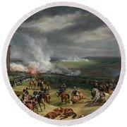 The Battle Of Valmy Round Beach Towel