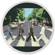 The Beatles Round Beach Towel