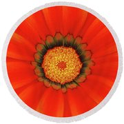 The Beauty Of Orange Round Beach Towel