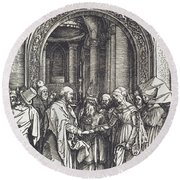 The Betrothal Of The Virgin Round Beach Towel